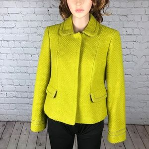 Boden 8P Wool Blend Jacket Blazer Mustard Yellow